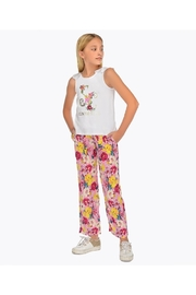 Mayoral FLORAL FLOWY PANT - Back cropped