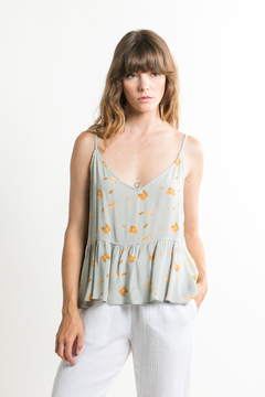 Grade & Gather  Floral Flowy Tank - Product List Image