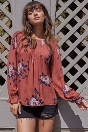 Gentle Fawn Floral Flowy Top - Product Mini Image