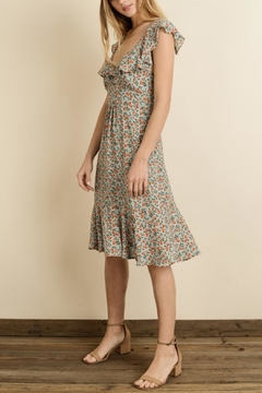 dress forum Floral Flutter-Sleeve Dress - Product List Image