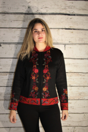 Peruvian Perfection Floral Front Sweater - Product Mini Image