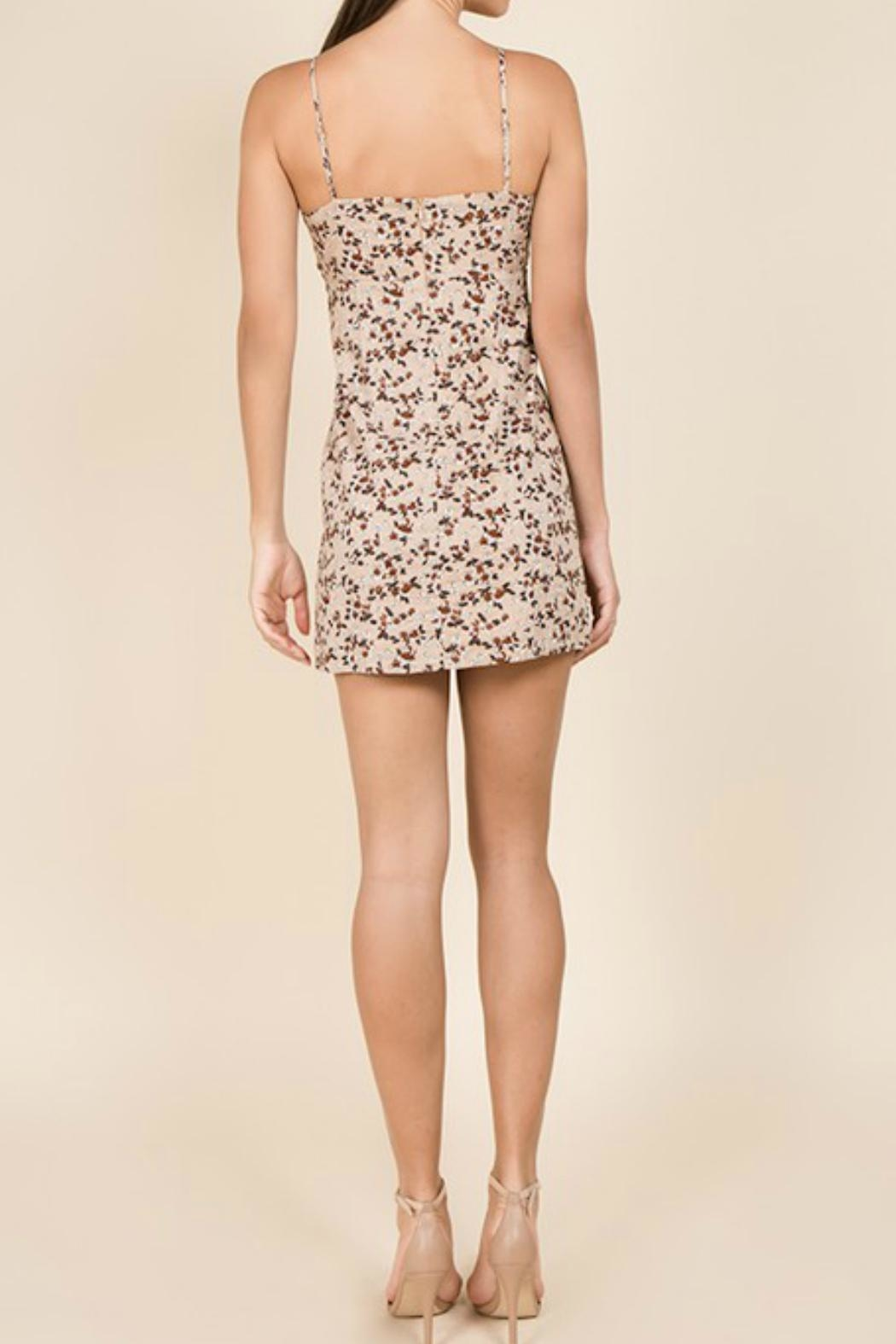Miss Love Floral Front-Tie Dress - Back Cropped Image