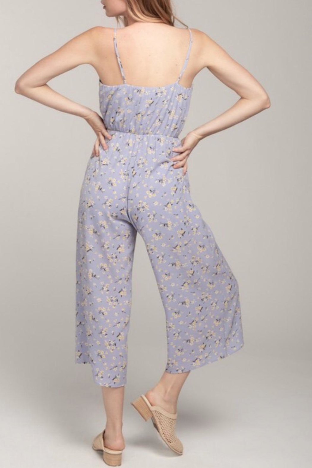 Everly Floral Front-Tie Jumpsuit - Back Cropped Image