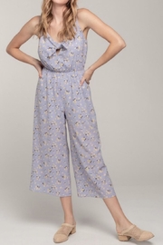 Everly Floral Front-Tie Jumpsuit - Front full body