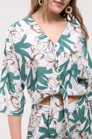 Blu Pepper Floral Front-Tie Top - Product Mini Image