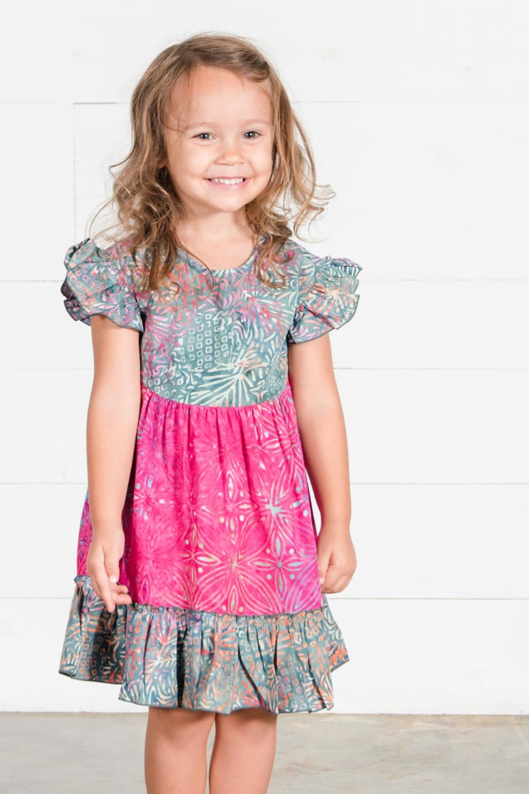 Go Fish Clothing Floral Girls Dress - Main Image