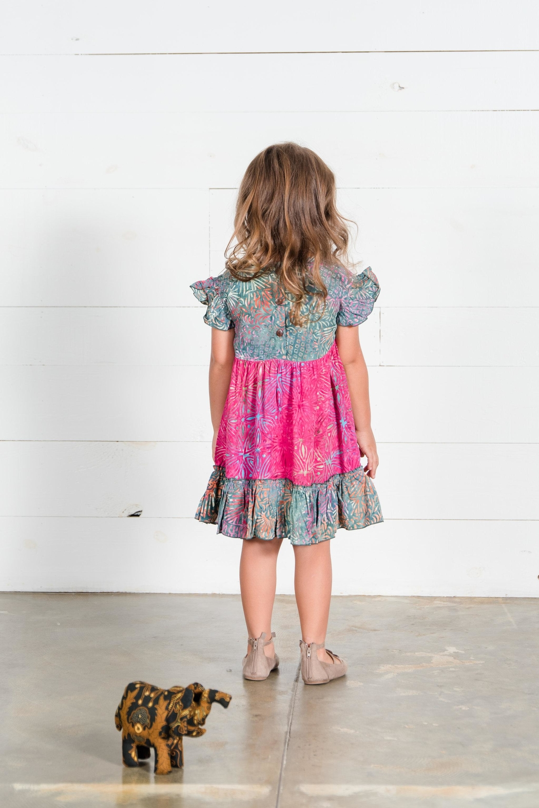 Go Fish Clothing Floral Girls Dress - Side Cropped Image