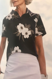 Tribal Floral Golf Polo - Product Mini Image