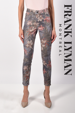 Frank Lyman Floral/Grey Reversible Pant - Product List Image