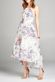 Esley Collection Floral Halter Dress - Product Mini Image