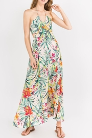 lunik Floral Halter Dress - Product Mini Image