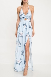 L'atiste Floral Halter Maxi - Front cropped