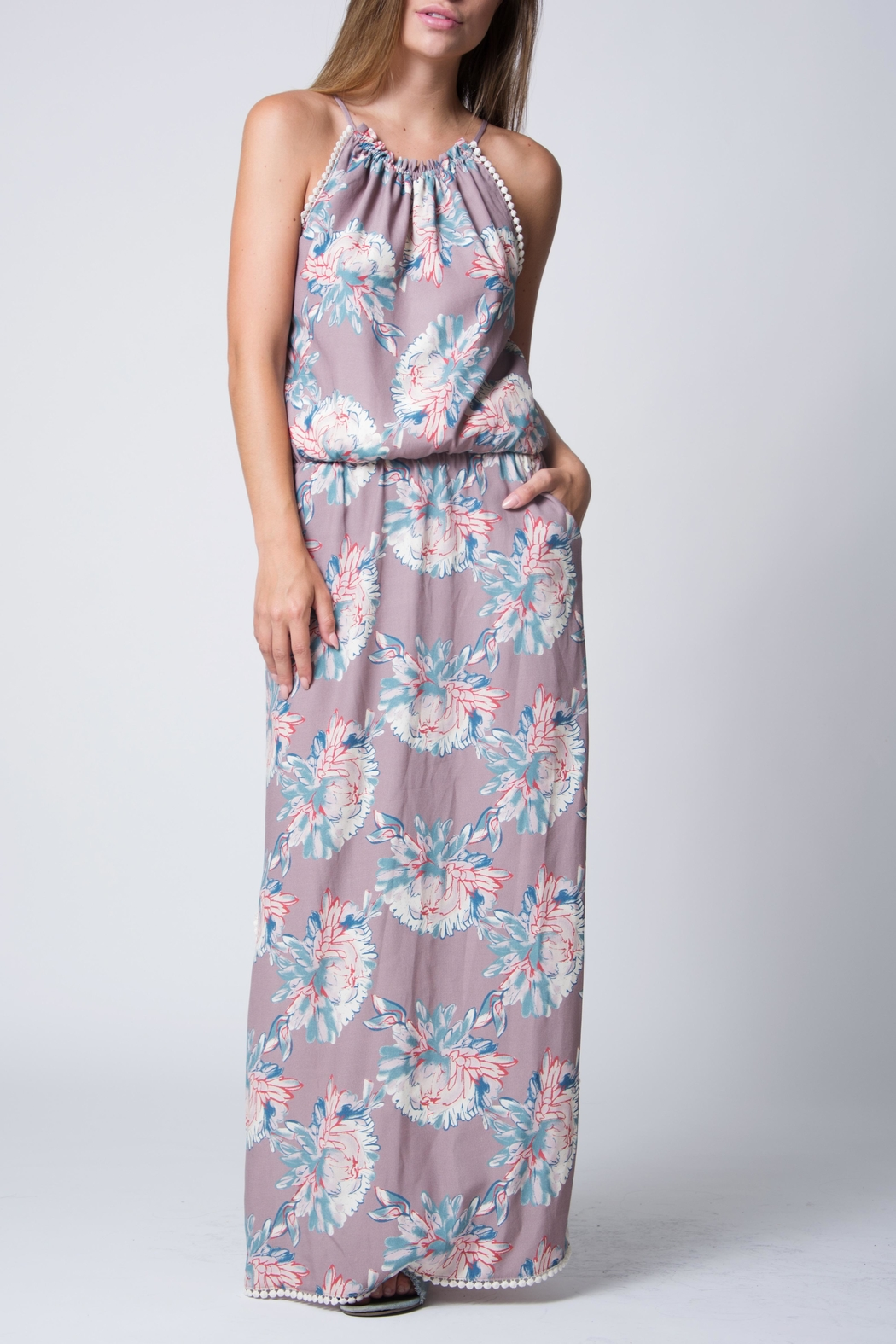Wanderlux Floral Halter Maxi - Main Image