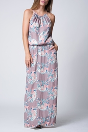 Wanderlux Floral Halter Maxi - Front cropped