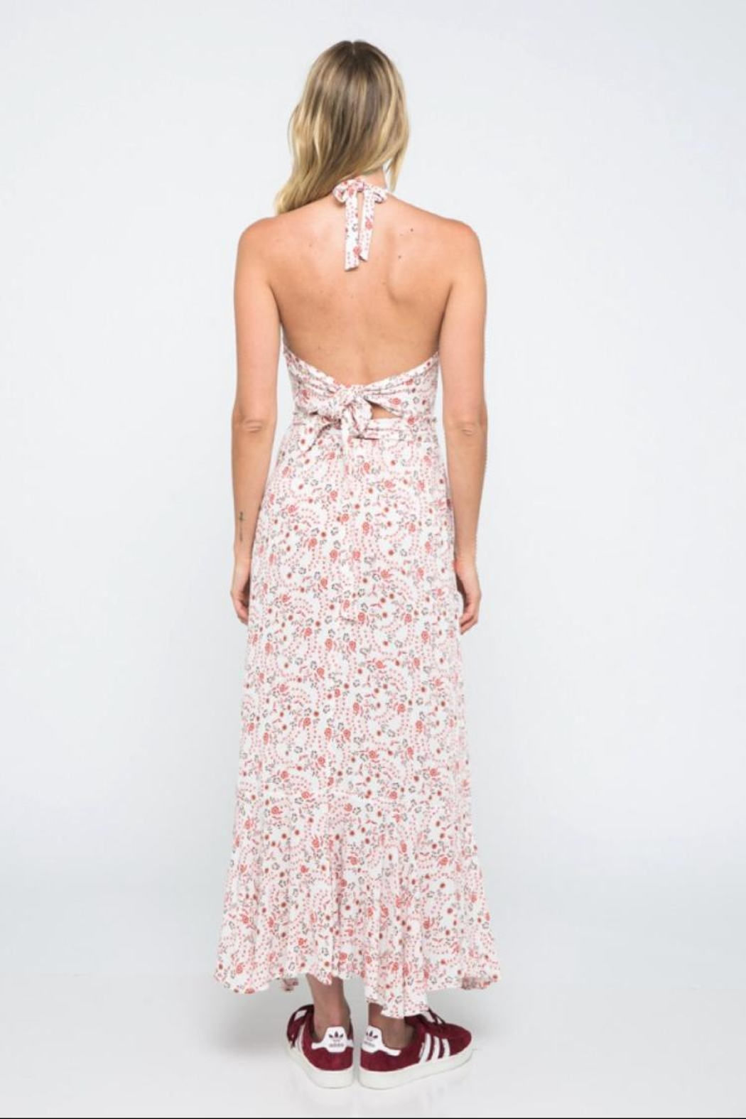 ae737acd6151e skylar madison Floral Halter Maxi-Dress from Los Angeles by Chikas ...
