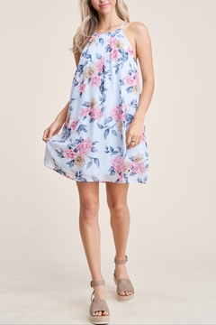 Staccato Floral Halter Neck Dress - Product List Image