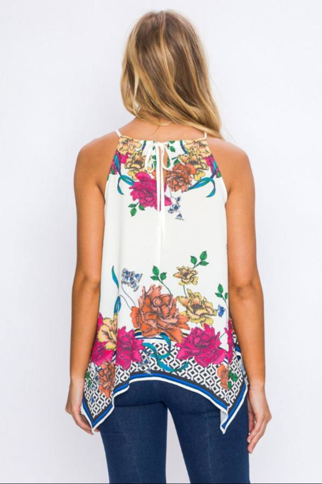Jealous Tomato Floral Handkerchief Top - Side Cropped Image