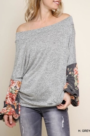 Umgee USA Floral Heathered Tunic - Side cropped