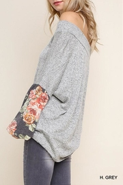 Umgee USA Floral Heathered Tunic - Back cropped