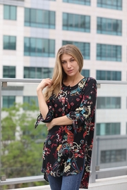 Olive Hill Floral Henley Tunic - Product Mini Image