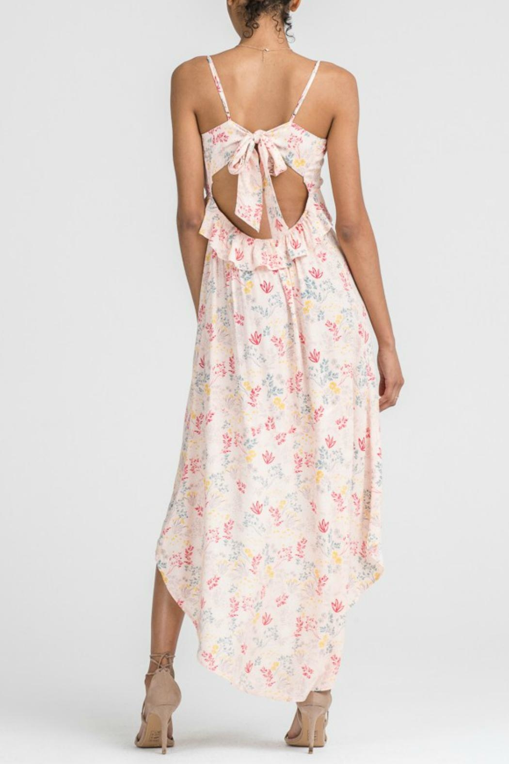 Lush Floral Hi-Low Maxi - Side Cropped Image