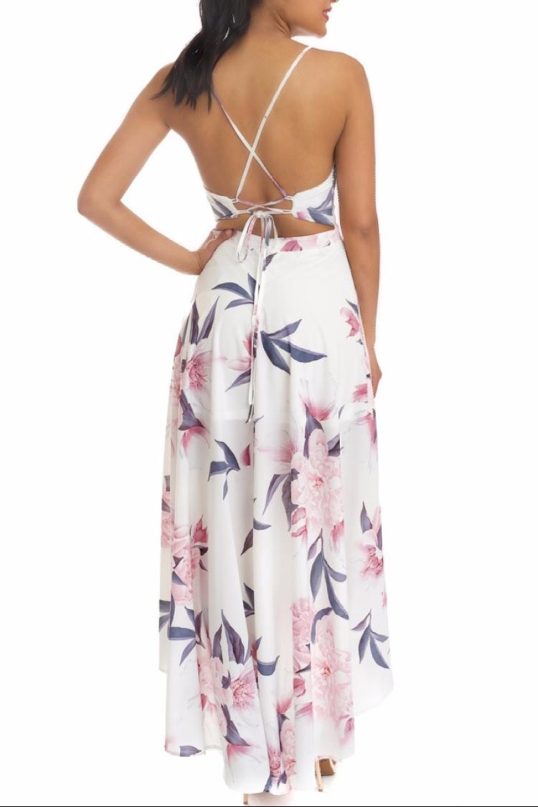 luxxel Floral High-Low Maxi - Front Full Image