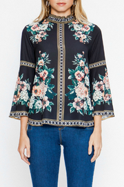 Flying Tomato Floral High Neck Top - Product Mini Image