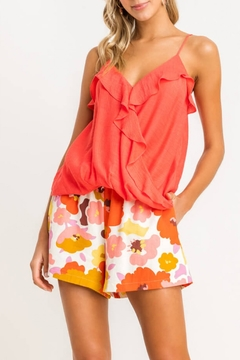 Lush  Floral Pocket Shorts - Alternate List Image