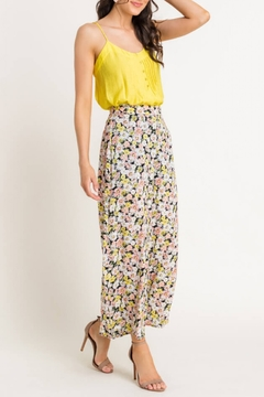 Lush  Floral High Waisted Pants - Alternate List Image