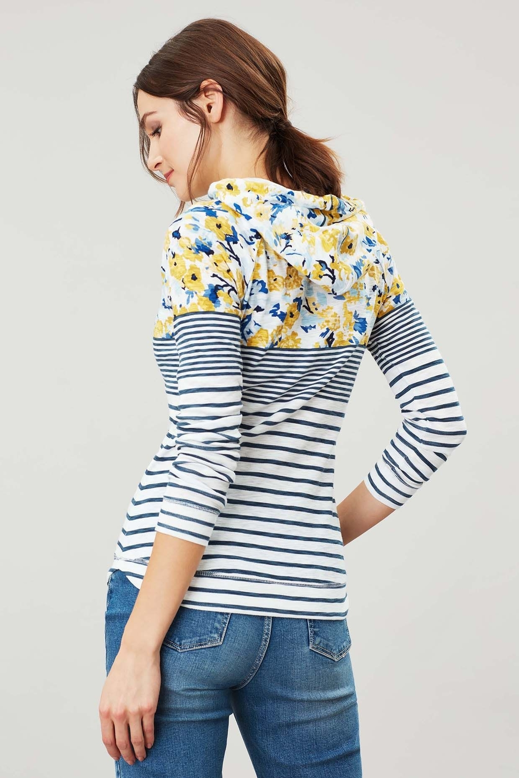 Joules Floral Hooded Sweatshirt - Side Cropped Image