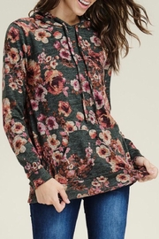 LuLu's Boutique Floral Hooded Top - Product Mini Image