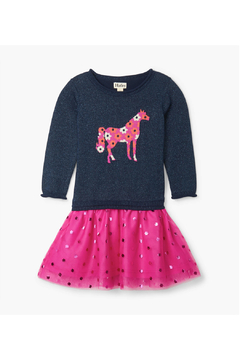 Hatley Floral Horse Drop Waist Tulle Dress - Product List Image