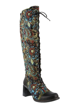 Spring Footwear Floral Jacquard Boot - Product List Image