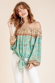 Umgee  Floral Jamie Top - Front cropped