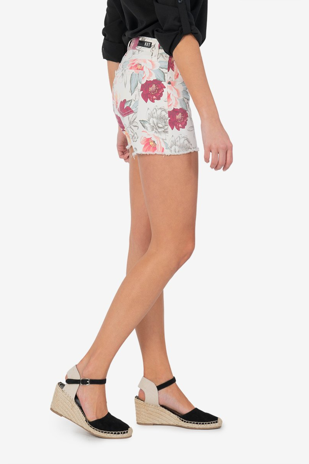 Kut from the Kloth Floral Jane - Side Cropped Image