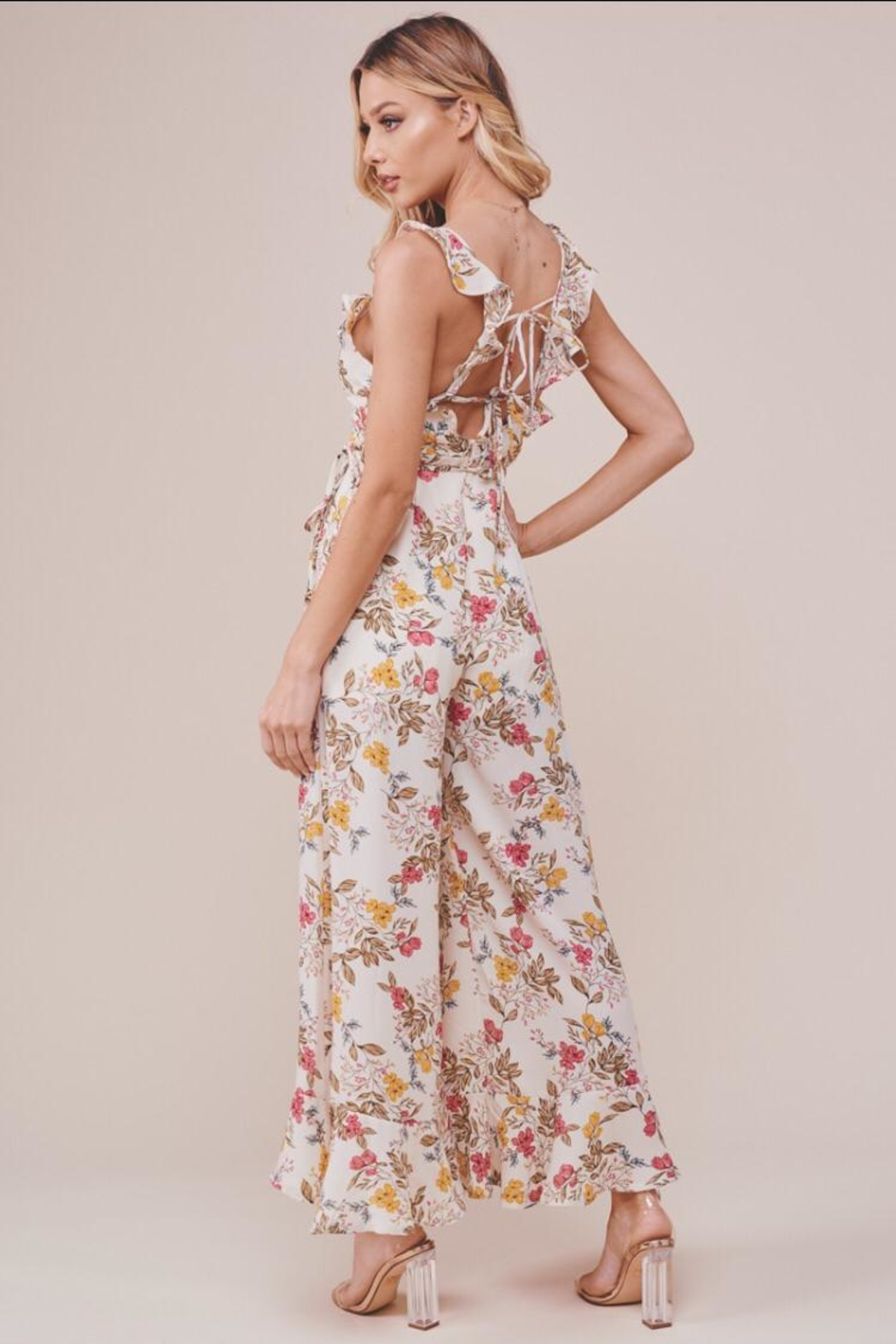 Chikas Floral Jumpsuit - Side Cropped Image