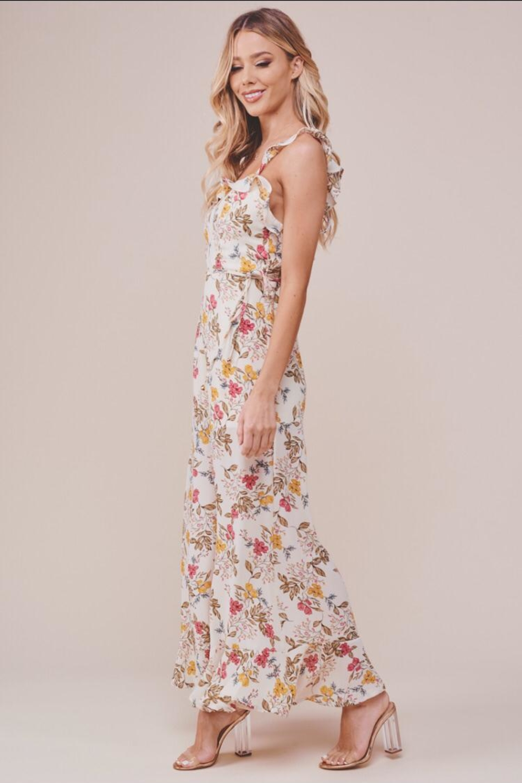 Chikas Floral Jumpsuit - Front Full Image