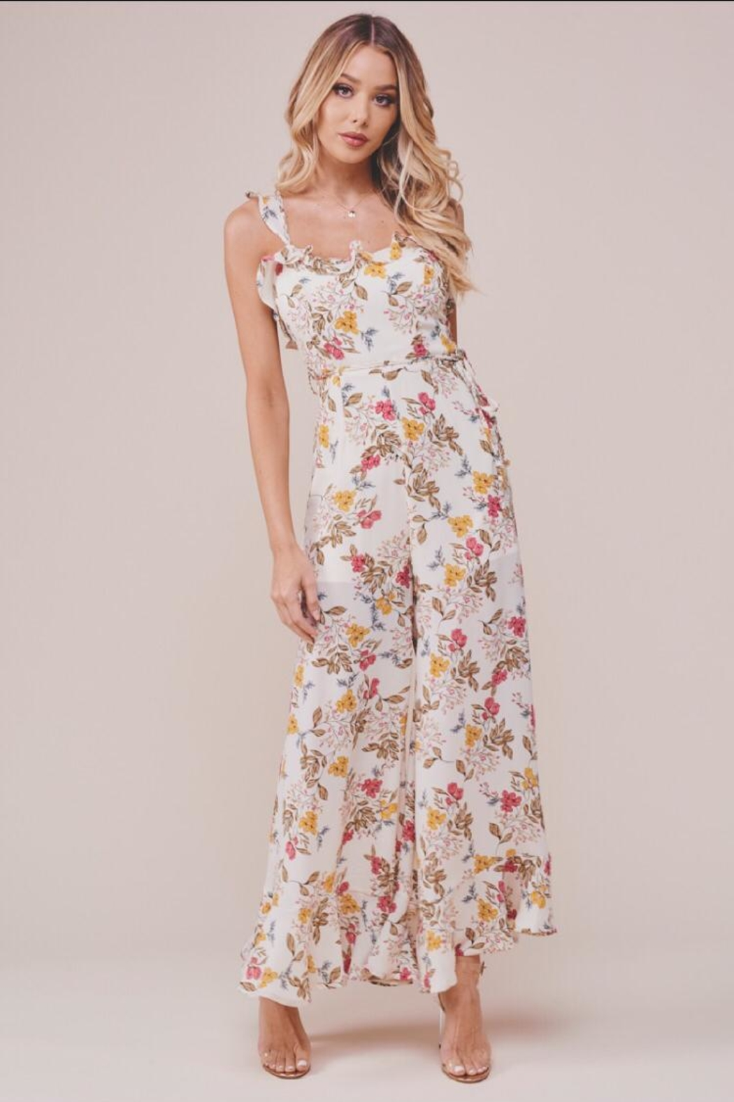 Chikas Floral Jumpsuit - Front Cropped Image