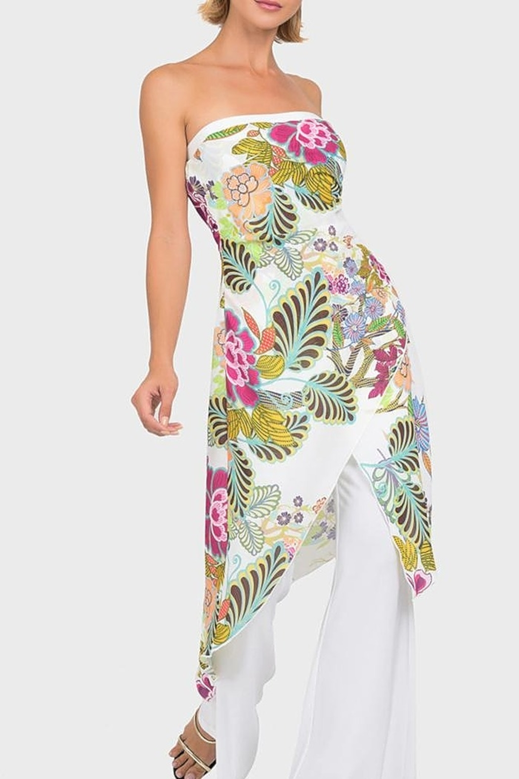 Joseph Ribkoff Floral Jumpsuit - Front Cropped Image