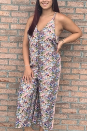 hummingbird Floral jumpsuit - Front full body