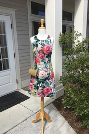 Adrianna Papell Floral Khaki Dress - Front cropped