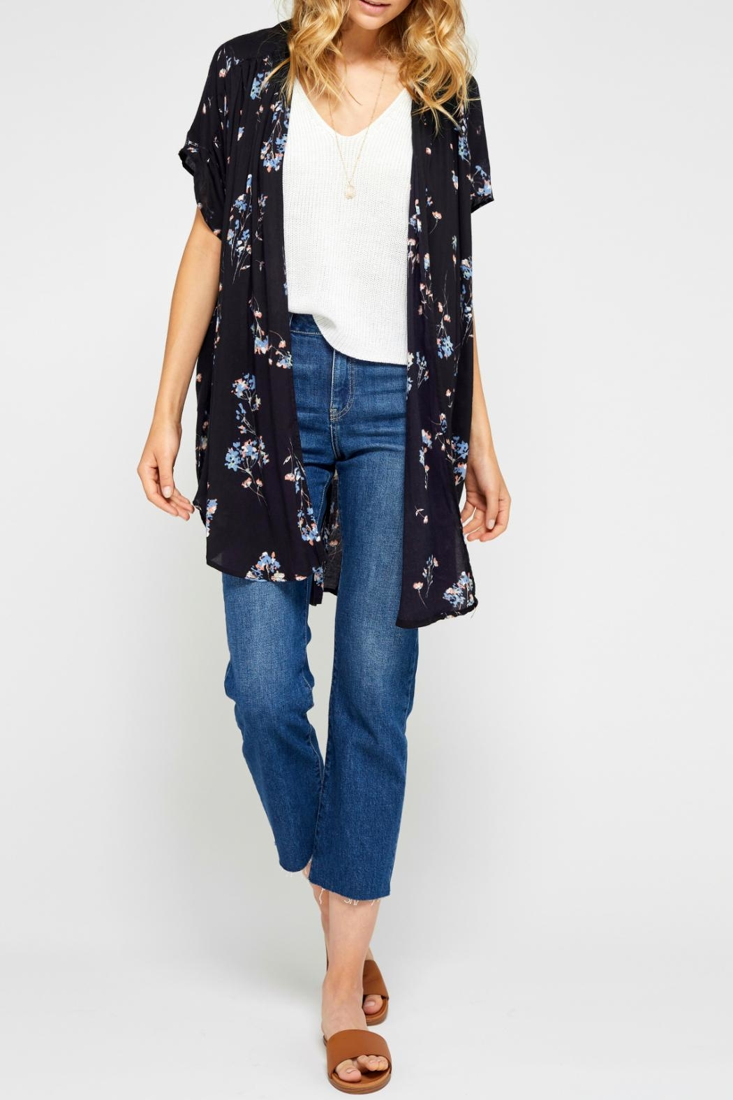 Gentle Fawn Floral Kimono - Front Full Image