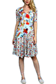 Aventures Des Toiles Floral Knit Dress - Product Mini Image