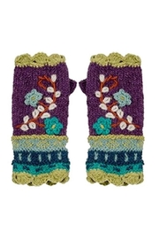 Rising Tide Floral-Knit Fingerless Gloves - Product Mini Image