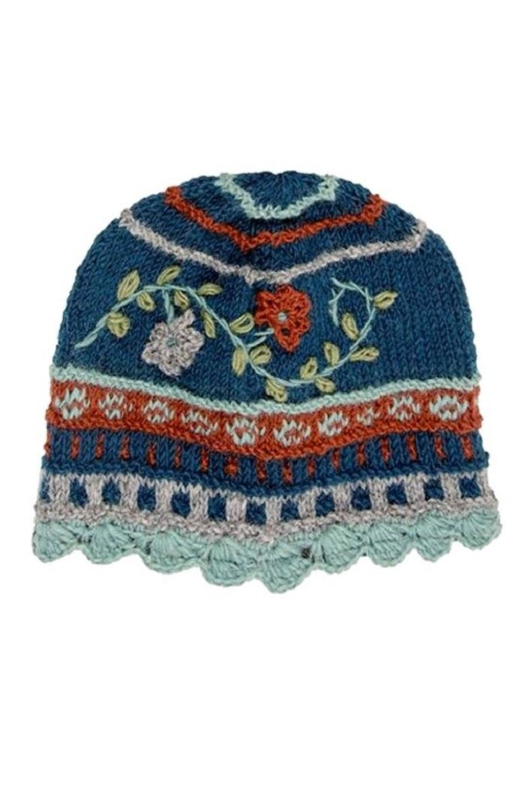 Rising Tide Floral Knit Hat - Main Image