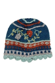Rising Tide Floral Knit Hat - Front cropped