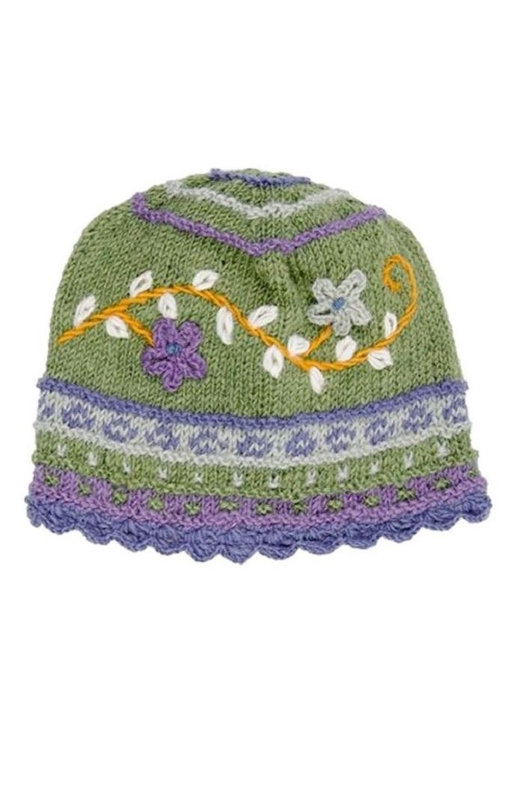 Rising Tide Floral Knit Hat - Front Cropped Image