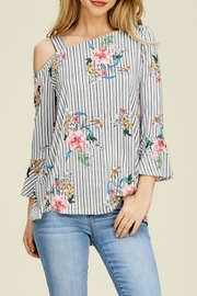 White Birch Floral Knit One-Shoulder - Product Mini Image
