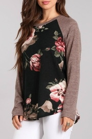 Chris & Carol Floral Knit Top - Product Mini Image