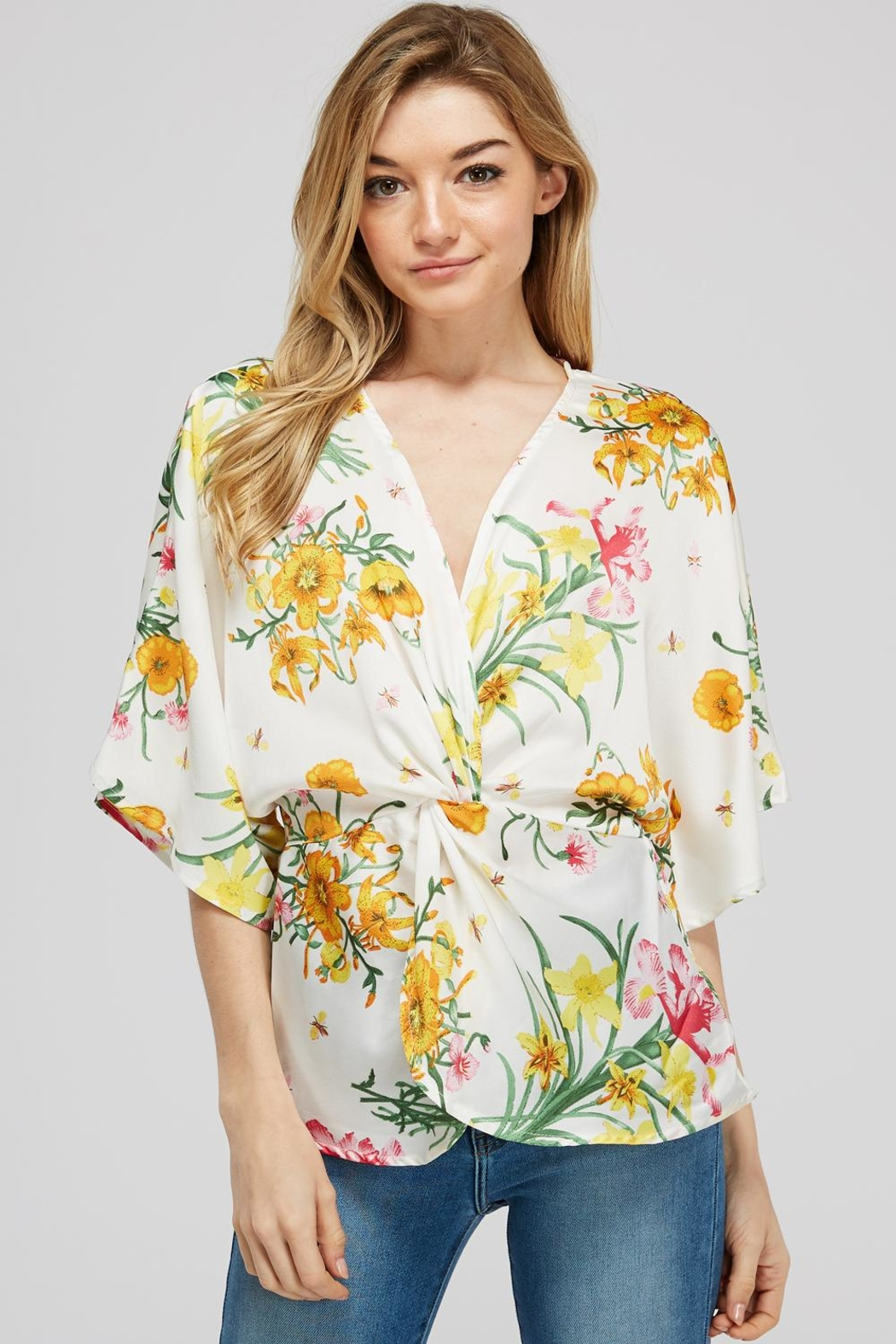 Idem Ditto  Floral Knot Blouse - Main Image